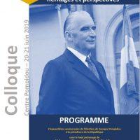Colloque 20-21 juin 2019 : Georges Pompidou, héritages et perspectives