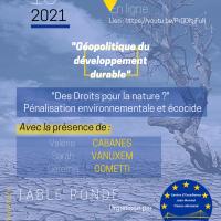 Table ronde : « Des droits pour la nature ? » – Pénalisation environnementale et écocide