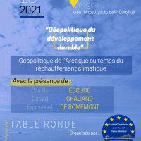 Table ronde : Géopolitique de l'Arctique au temps du réchauffement climatique