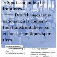 Webinaire : «Sport : enjamber les frontières»