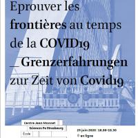 Webinaire : Eprouver les frontières au temps de la COVID19