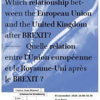 Webinaire : Quelle relation entre l'Union européenne et le Royaume-Uni après le BREXIT ?