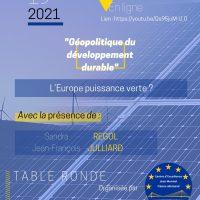 Table ronde : L'Europe puissance verte ?